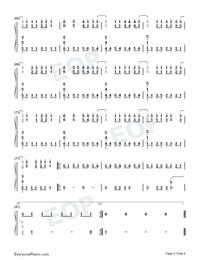Sick and Tired Numbered Musical Notation Preview 4
