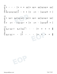 Time-The Romance of Tiger and Rose OST-Numbered-Musical-Notation-Preview-5