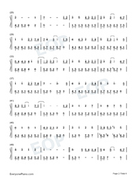 Time and You Are Sweet-Beautiful Time with You Theme-Numbered-Musical-Notation-Preview-2
