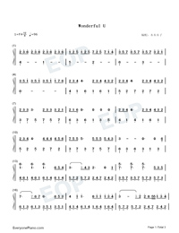Wonderful U-Easy Version-Numbered-Musical-Notation-Preview-1