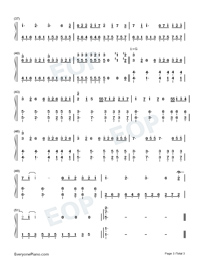 Wonderful U-Easy Version-Numbered-Musical-Notation-Preview-3