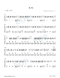 My My-Seventeen-Numbered-Musical-Notation-Preview-1