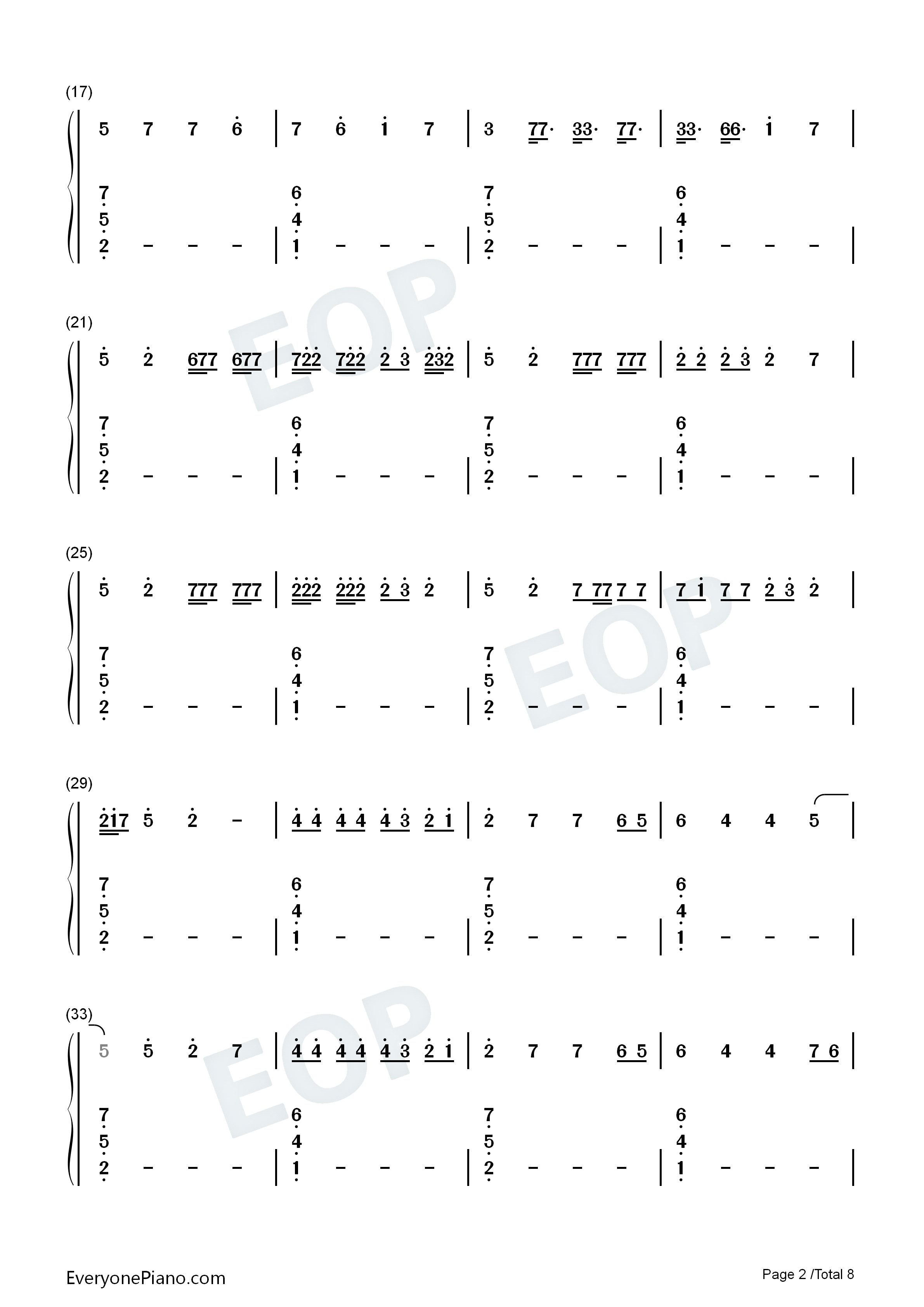 Black Parade-Beyoncé Numbered Musical Notation Preview 2