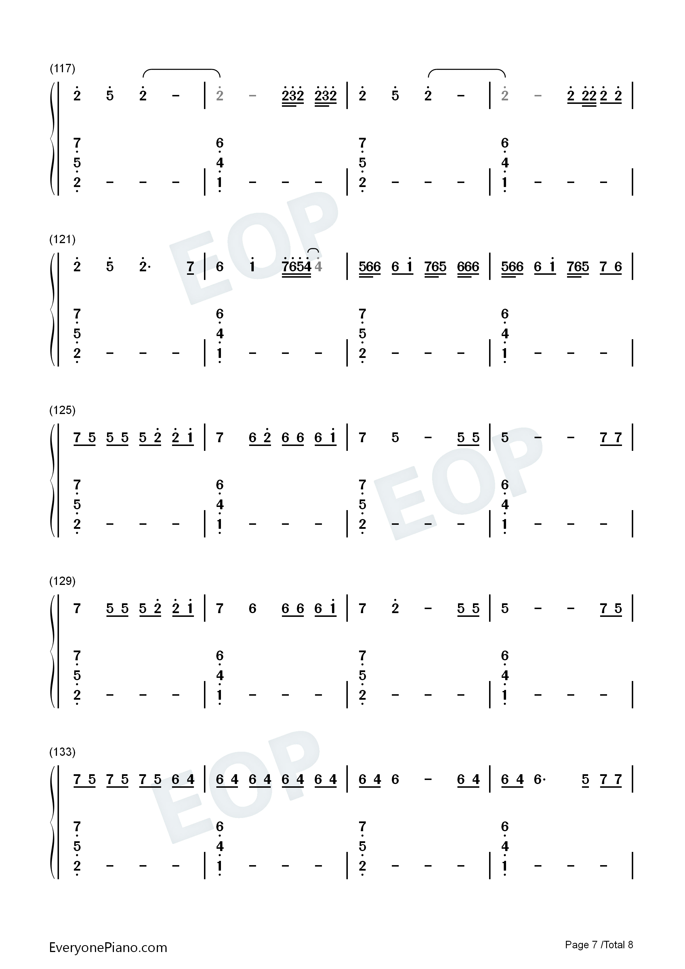 Black Parade-Beyoncé Numbered Musical Notation Preview 7