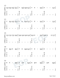 Black Parade-Beyoncé Numbered Musical Notation Preview 3