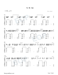 No Me Ame-Anuel AA-Numbered-Musical-Notation-Preview-1