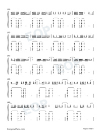 No Me Ame-Anuel AA-Numbered-Musical-Notation-Preview-3