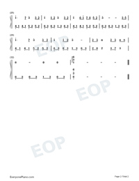 Big Fish-Easy Version-Big Fish Begonia-Numbered-Musical-Notation-Preview-2