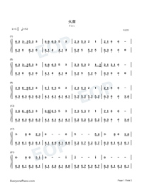 Fire-TikTok Hot Song-Numbered-Musical-Notation-Preview-1