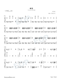 Cocoon Break-Soul Land Theme-Numbered-Musical-Notation-Preview-1