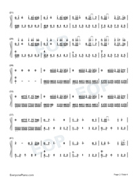 Cocoon Break-Soul Land Theme-Numbered-Musical-Notation-Preview-2