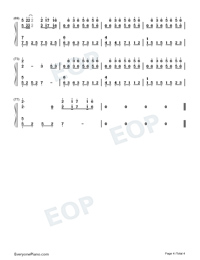 Cocoon Break-Soul Land Theme-Numbered-Musical-Notation-Preview-4