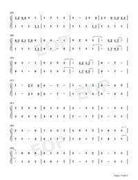 Ikitsuku Saki-The Legend of Heroes OP Numbered Musical Notation Preview 2