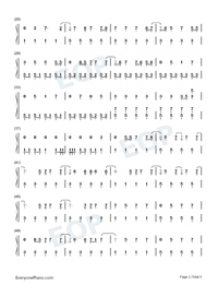 Bloody Valentine-Machine Gun Kelly Numbered Musical Notation Preview 2