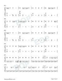 Bloody Valentine-Machine Gun Kelly Numbered Musical Notation Preview 4