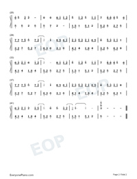 Apricot Blossom And Rain Outside The String-Numbered-Musical-Notation-Preview-2