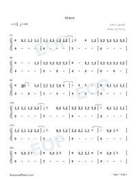 Grace-Lewis Capaldi Numbered Musical Notation Preview 1