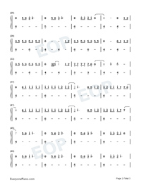 Grace-Lewis Capaldi Numbered Musical Notation Preview 2