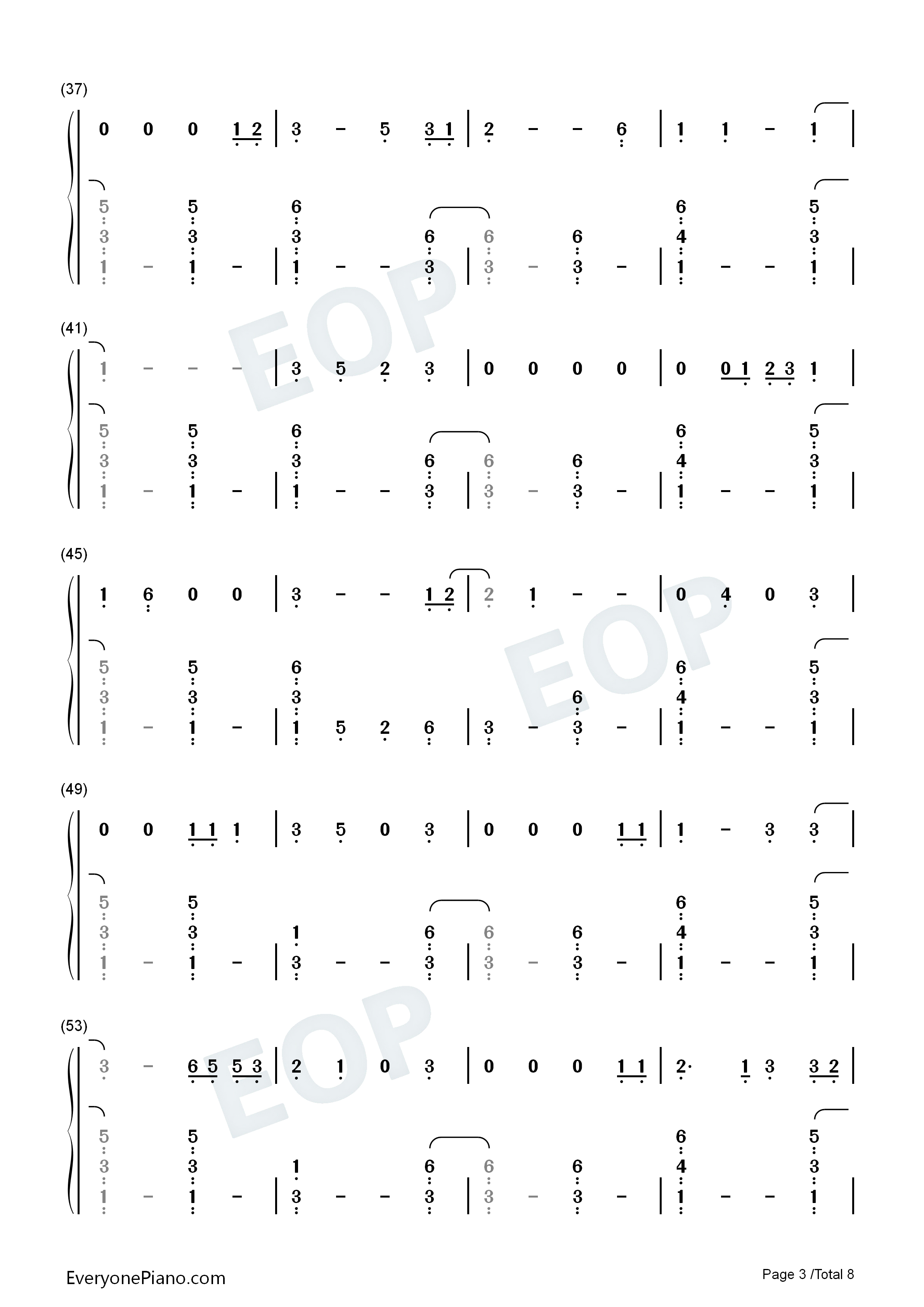 Die a Happy Man-Thomas Rhett Numbered Musical Notation Preview 3