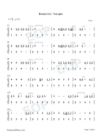 Wonderful Tonight-Eric Clapton-Numbered-Musical-Notation-Preview-1