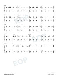 Wonderful Tonight-Eric Clapton-Numbered-Musical-Notation-Preview-2
