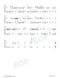Still in a Dream of Thirty-eighth Year Numbered Musical Notation Preview 2