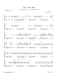 Time Flows Away-Numbered-Musical-Notation-Preview-1