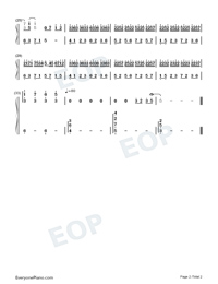 Time Flows Away-Numbered-Musical-Notation-Preview-2