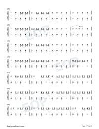Caramelo-Ozuna Numbered Musical Notation Preview 2