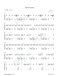 Hallucinate-Dua Lipa-Numbered-Musical-Notation-Preview-1