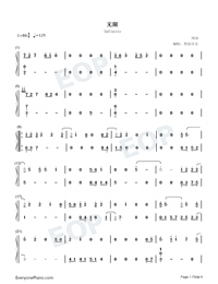 Infinite-Reunion The Sound of the Providence ED Numbered Musical Notation Preview 1