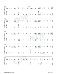 Infinite-Reunion The Sound of the Providence ED Numbered Musical Notation Preview 2