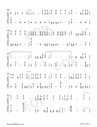 Infinite-Reunion The Sound of the Providence ED Numbered Musical Notation Preview 3