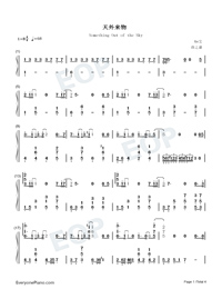 Something Out of the Sky-Numbered-Musical-Notation-Preview-1
