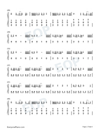 Nobodys Love-Maroon 5-Numbered-Musical-Notation-Preview-2