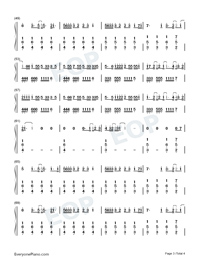 Nobodys Love-Maroon 5-Numbered-Musical-Notation-Preview-3
