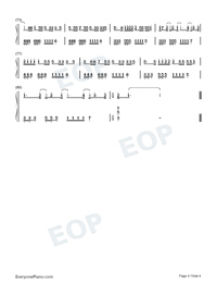 Nobodys Love-Maroon 5-Numbered-Musical-Notation-Preview-4