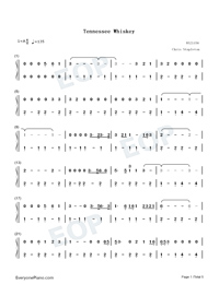 Tennessee Whiskey-Chris Stapleton-Numbered-Musical-Notation-Preview-1