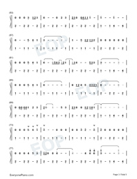 Tennessee Whiskey-Chris Stapleton-Numbered-Musical-Notation-Preview-3
