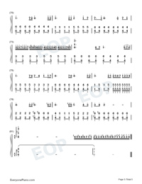 The Dawn-Full Version Numbered Musical Notation Preview 5