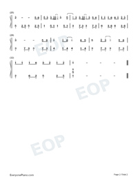 Goodbye Is Just a Stranger-Easy Version Numbered Musical Notation Preview 2