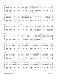 Love-Kendrick Lamar-Numbered-Musical-Notation-Preview-3