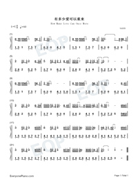 How Many Love Can Once More Numbered Musical Notation Preview 1