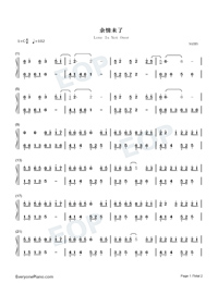 Love Is Not Over-Easy Version Numbered Musical Notation Preview 1