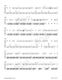 A Letter from the Island Numbered Musical Notation Preview 3