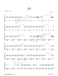 The Fox-Easy Version Numbered Musical Notation Preview 1