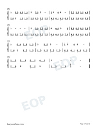 The Fox-Easy Version Numbered Musical Notation Preview 2