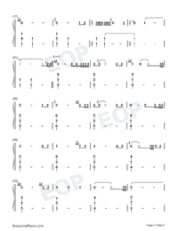 Hymn to the sea-Titanic OST Numbered Musical Notation Preview 2