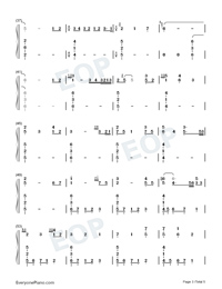 Hymn to the sea-Titanic OST Numbered Musical Notation Preview 3