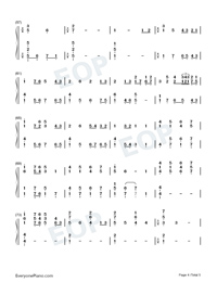 Hymn to the sea-Titanic OST Numbered Musical Notation Preview 4